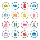 сумки икона set — Cтоковый вектор