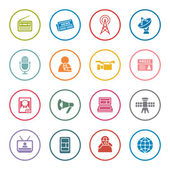 Mass media icon set — Stock Vector