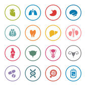 Human organs icon set — Stock Vector