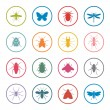 Insects icon set — Stock Vector #61899827