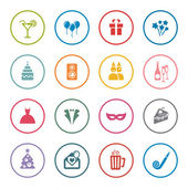 Party icon set — Stock Vector