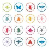 Zestaw ikon owady — Wektor stockowy