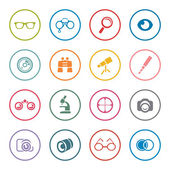 Optical icon set — Stock Vector