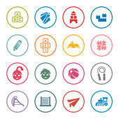 Preschool icon set — Stock Vector