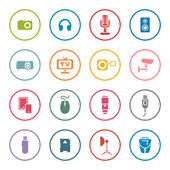Electronic devices icon set — 图库矢量图片