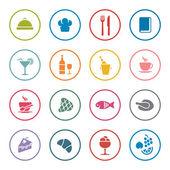 Restaurant icon set — Stock Vector