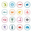 Seafood icons — Stock Vector #61900039
