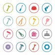 Tools icon set — Stock Vector #61900119