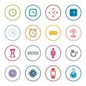 Clocks and time theme icon set — Stock Vector