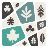 Leaves icons set — Stock Vector