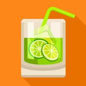 Caipirinha cocktail icon — Stock Vector
