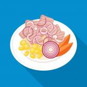 Ceviche dish icon — Stock Vector
