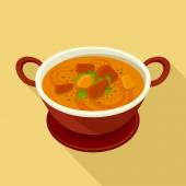 Curry flat icon — Stock Vector