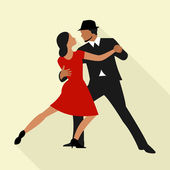 Couple dancing Tango — Stock Vector