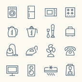 Household icons set — Stock Vector