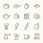 Kitchen utensils icons — Stock Vector