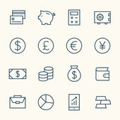 Finance icons set — Stock Vector