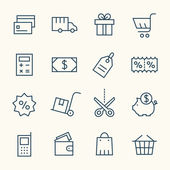 Shopping  icons set — Stock Vector