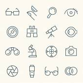 Optical  icons set — Stock Vector