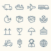 Logistics line icons — Stock Vector