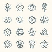 Flowers  icons set — Stock Vector