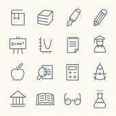 Education theme icons — Stock Vector