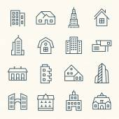 Architecture   icons set — Stock Vector