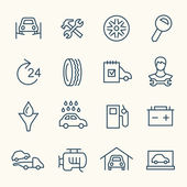 Car service flat icons — Stock Vector