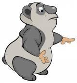 Funny panda — Stock Vector