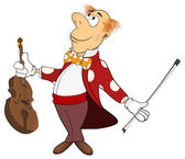 Violinist cartoon — Stock Vector