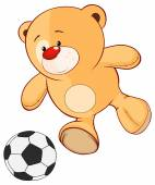 Bear soccer player — Stockvektor