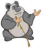 Panda with bamboo — Stock Vector