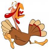 Funny turkey — Stock Vector