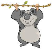 Panda com bambu — Vetorial Stock