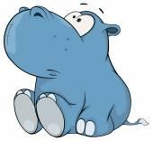 Cute hippopotamus — Stock Vector