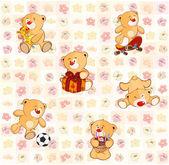 Teddyberen — Stockvector