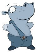 Petit hippopotame — Vecteur