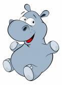 Pequeño hipopótamo — Vector de stock