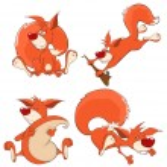 Set of squirrels — Stock Vector #54291171