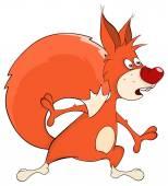 A squirrel cartoon — Stock Vector