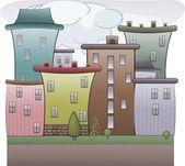 Renkli şehir — Stok Vektör
