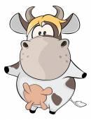 Small cow. — Stock Vector