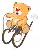 Toy bear cub cartoon — Stock Vector