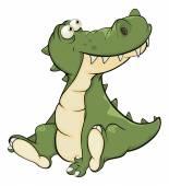 Crocodile. Cartoon — Stock Vector