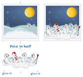 3D Christmas post card. — Stock Vector
