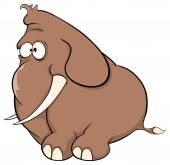 A elephant calf cartoon — Stock Vector