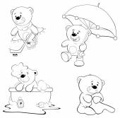 A set of bears. — Stock Vector