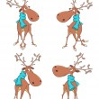 Set of reindeer cartoon — Stock Vector #56633039
