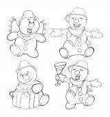 Set of  Christmas snowmen. — Stock Vector