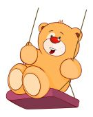 Stuffed toy bear cub — Stock Vector